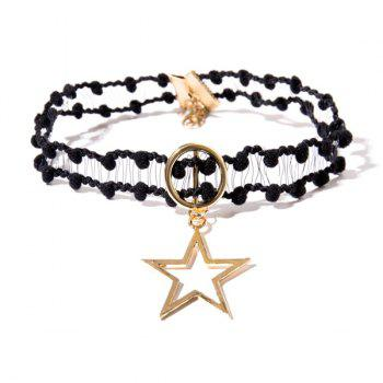 Star Circle Crochet Choker Necklace