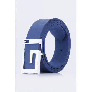 Stylish Letter G Shape Buckle Men's Casual PU Belt