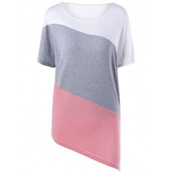 Asymmetrical Color Block T-shirt