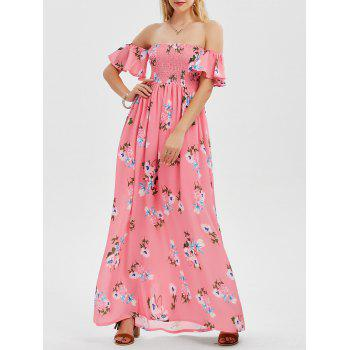 Off The Shoulder Floral Maxi Bandeau Dress