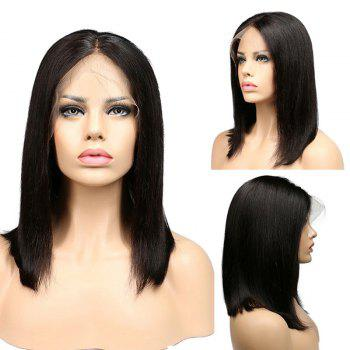Center Parting Medium Straight Lace Front Synthetic Wig
