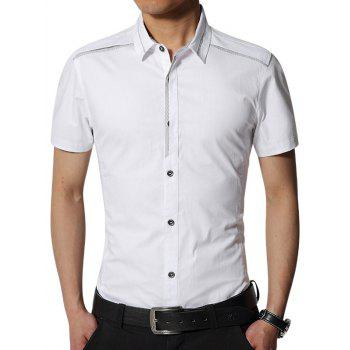 Edging Short Sleeve Slim Fit Cargo Shirt