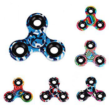 Stress Relief Toys Printed Hand Fidget Spinner -  BLACK