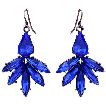 Floral Shape Artificial Sapphire Drop Earrings