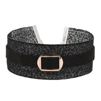Buckle Wide Choker Necklace