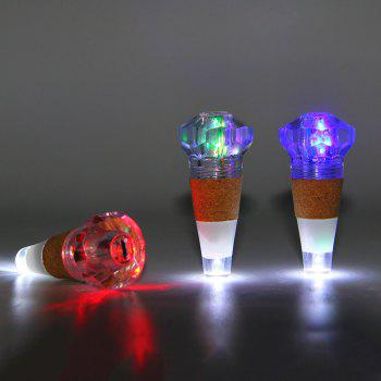 Bottle Stopper with USB Charging Colorful Night Light - TRANSPARENT