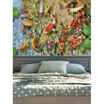 Wall Hangings Lotus Leaf Goldfish Print Tapestry