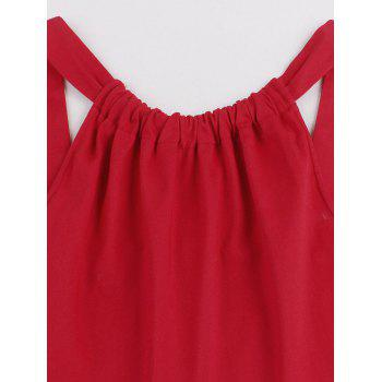 Cherry Print High Waisted Pin Up Dress - RED RED