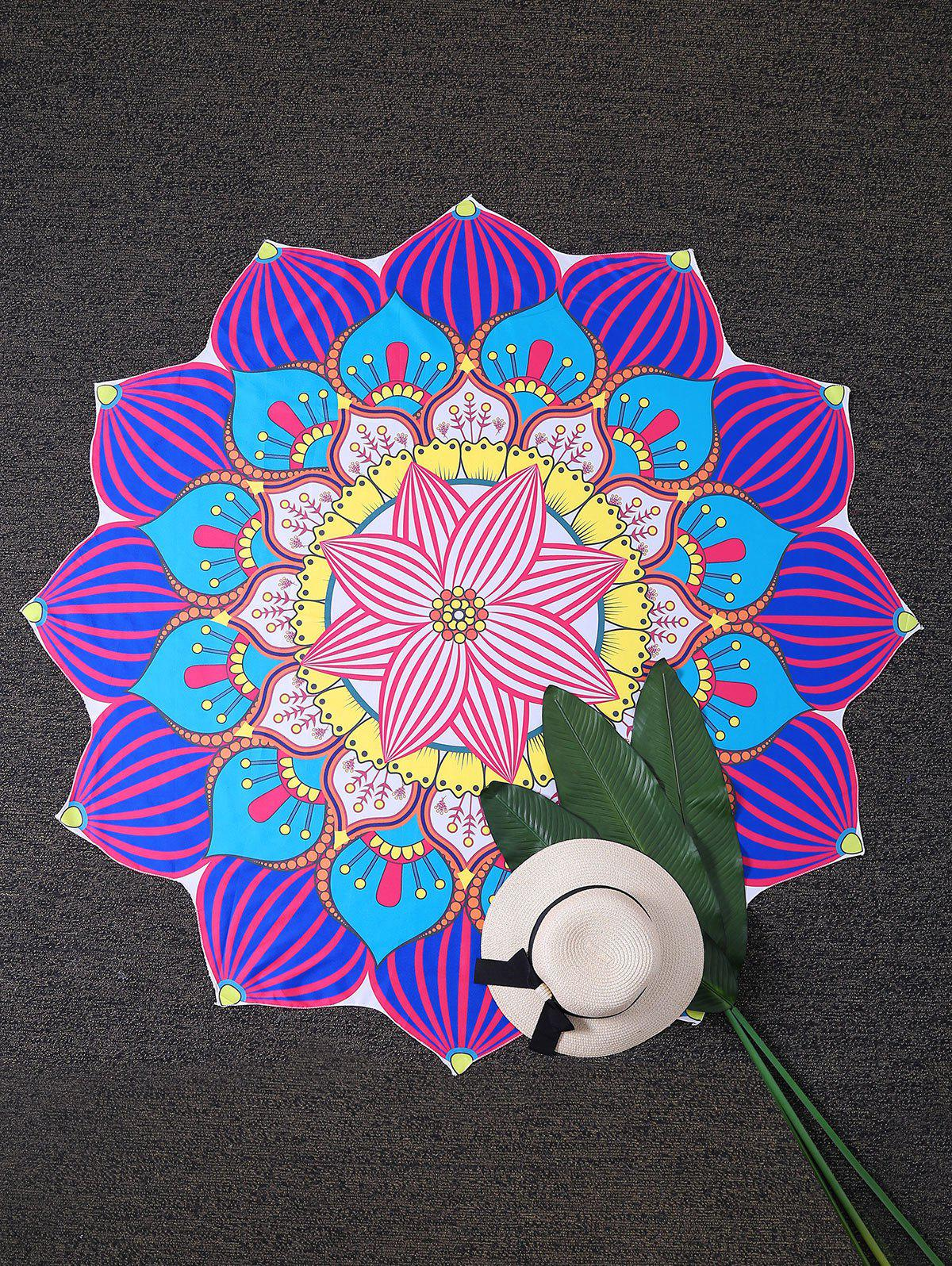 Sunbath Mandala Lotus Beach Throw Cover - multicolorcolore ONE SIZE