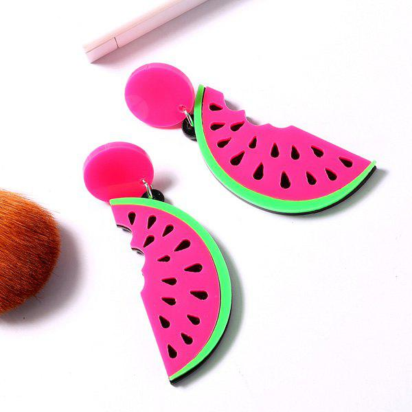Watermelon Drop Earrings - RED