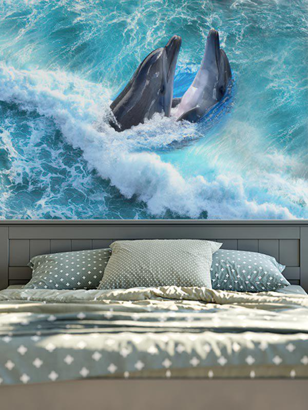Brushed Fabric Wall Hangings Dolphins Print Tapestry brushed fabric wall hangings sea world dolphin tapestry