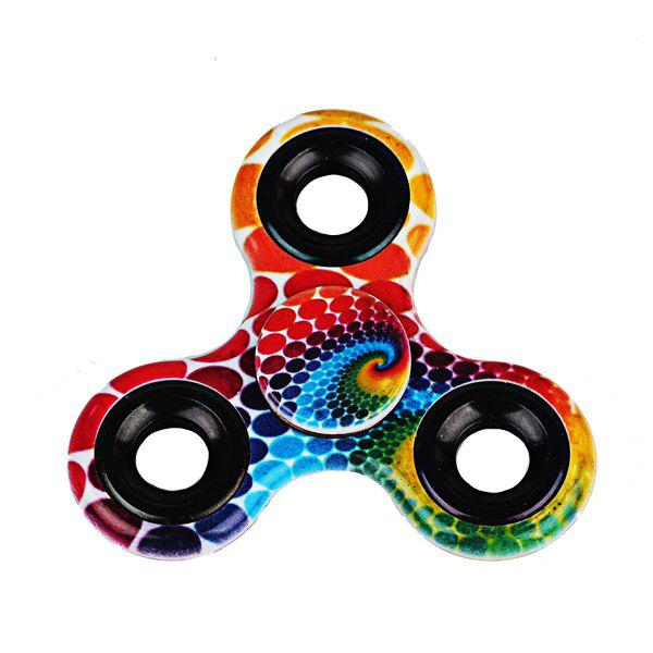 Stress Relief Toys Printed Hand Fidget Spinner - RED