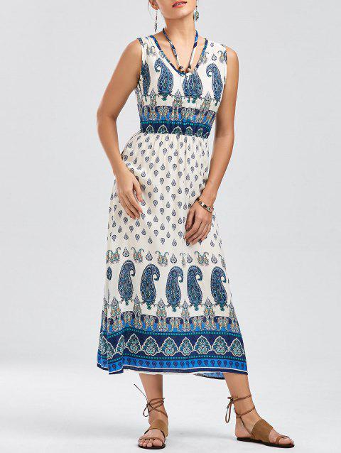 Bohemian Tribal Paisley Print Dress - COLORMIX M
