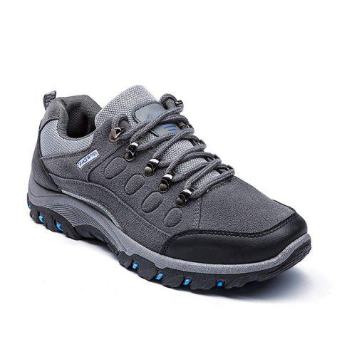 Colour Block Faux Suede Athletic Shoes - GRAY 44