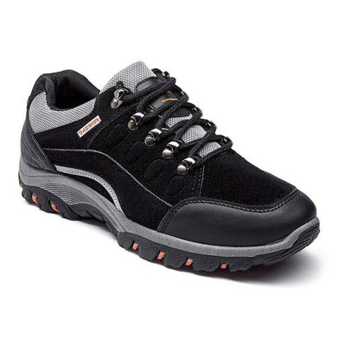 Colour Block Faux Suede Athletic Shoes - BLACK 44