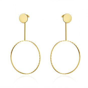 Gold Plated Circle Drop Earrings
