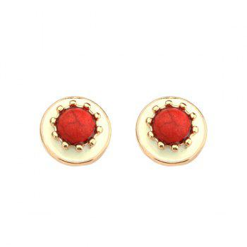 Beads Natural Stone Alloy Stud Earrings