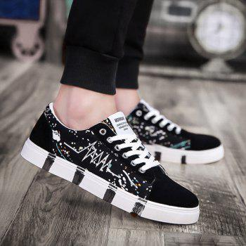 Embroider Line Multicolor Casual Shoes