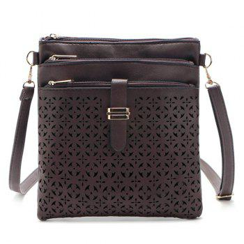 PU Leather Cut Out Crosbody Bag