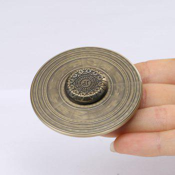 Alloy Fidget Hand Spinner with 12 Constellation Print - BRONZE COLORED BRONZE COLORED