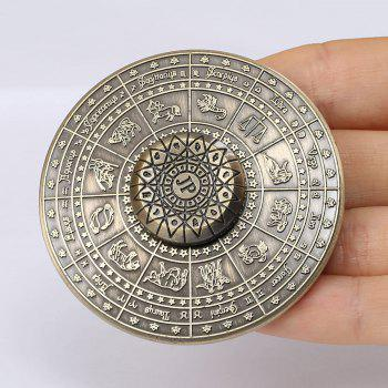 Alloy Fidget Hand Spinner with 12 Constellation Print
