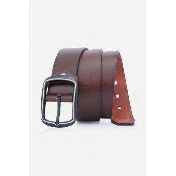 Artificial Leather Rectangular Pin Buckle Belt