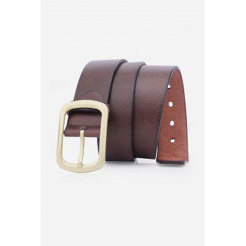 Retro Faux Leather Rectangular Pin Buckle Belt