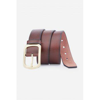 Retro Faux Leather Rectangular Pin Buckle Belt - BROWN BROWN