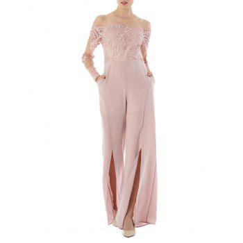 High Waisted Formal Wide Leg Jumpsuit