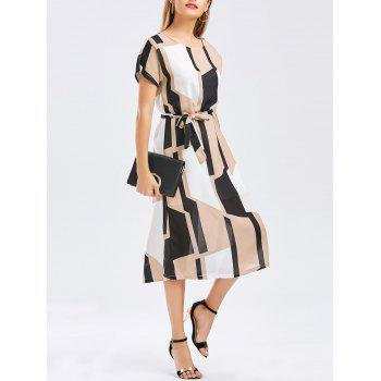 Geometric Print Work Midi Dress