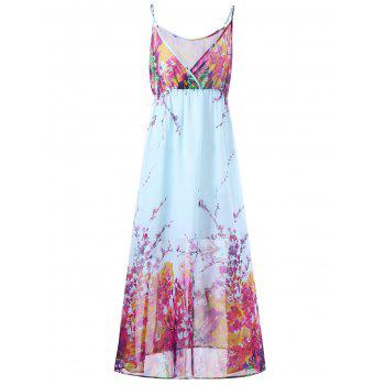 Plus Size Tiny Floral Flowing Slip Dress