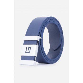 Stylish Letter G and Cut Out Design Buckle Men's Casual PU Belt