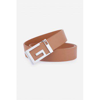 Stylish Letter G Shape Buckle Men's Casual PU Belt -  CAMEL