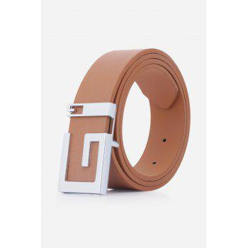 Stylish Letter G Shape Buckle Men's Casual PU Belt - CAMEL CAMEL