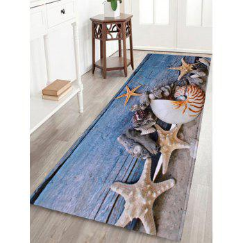 Skidproof Coral Velvet Conch Starfish Bath Rug