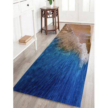 Coral Fleece Beach Style Water Absorbent Rug