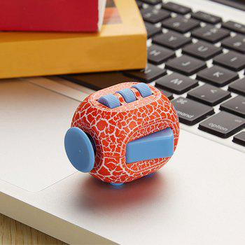 Crack Print Stress Relief Toy Fidget Rubik's Cube -  ORANGE