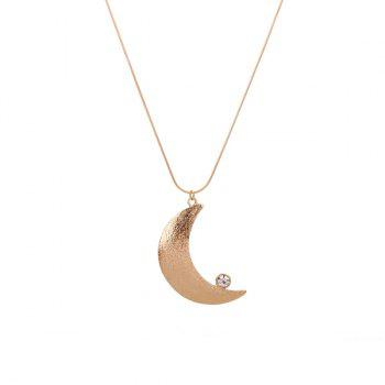 Rhinestone Moon Pendant Necklace