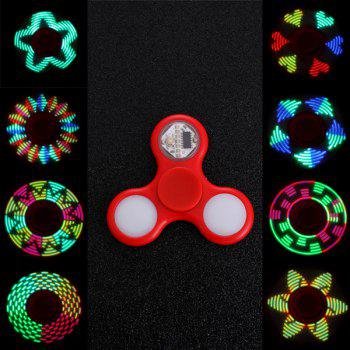 Anti Stress Reliever EDC Fidget Spinner with 16 Pattern LED Light - RED