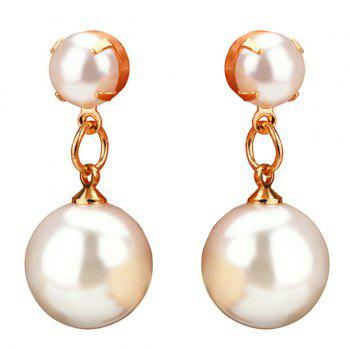 Faux Pearl Pendant Drop Earrings