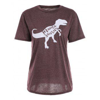 Dinosaur Print Graphic T-Shirt
