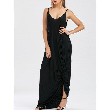 Oversized Maxi Pockets Slip Dress