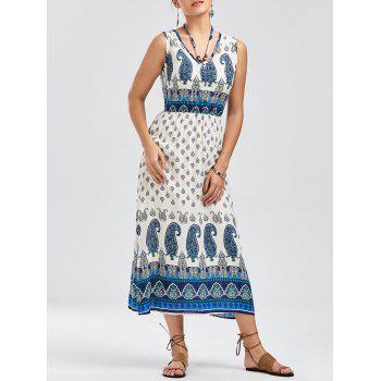 Bohemian Tribal Paisley Print Dress