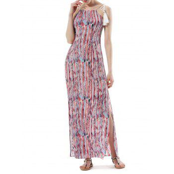 Halter Side Slit Bohemia Maxi Dress