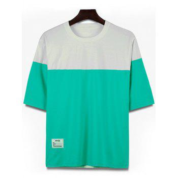 Loose Fit Crew Neck Two Tone Tee