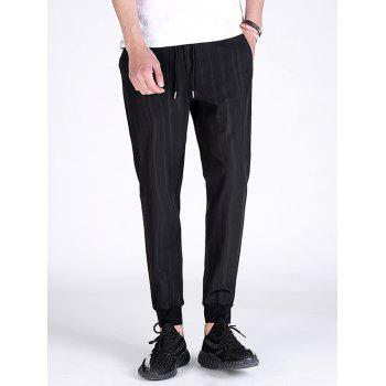 Drawstring Vertical Striped Jogger Pants