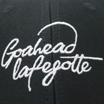 Outdoor Letters Embroidered Baseball Hat -  BLACK