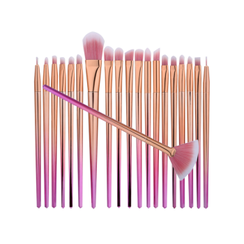 Ombre Diamond Shaped Fan Eye Makeup Brushes Set