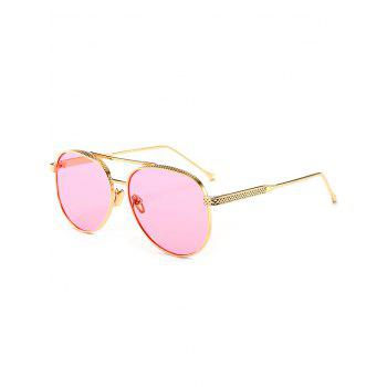 Mirrored Double Metallic Crossbar Pilot Sunglasses