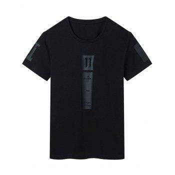 Short Sleeve Graphic Print and Applique T-shirt